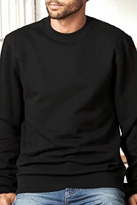 Pure Cotton Crew Neck Sweat Top [T28-1102B-S]