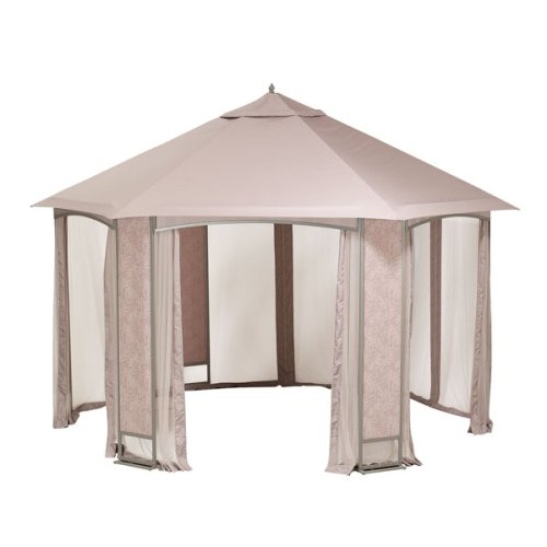 Sears Oakbrook Hexagon Gazebo Replacement Canopy and Netting
