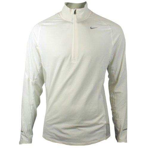 Mens Nike Dry Dri FIT Running Training Shirt Reflective White L/S Tee Top S-XXL