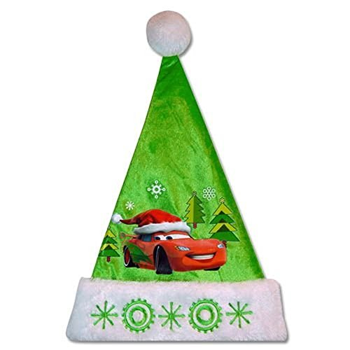 Disney Cars Velour Santa Hat with Embroidered Plush Cuff