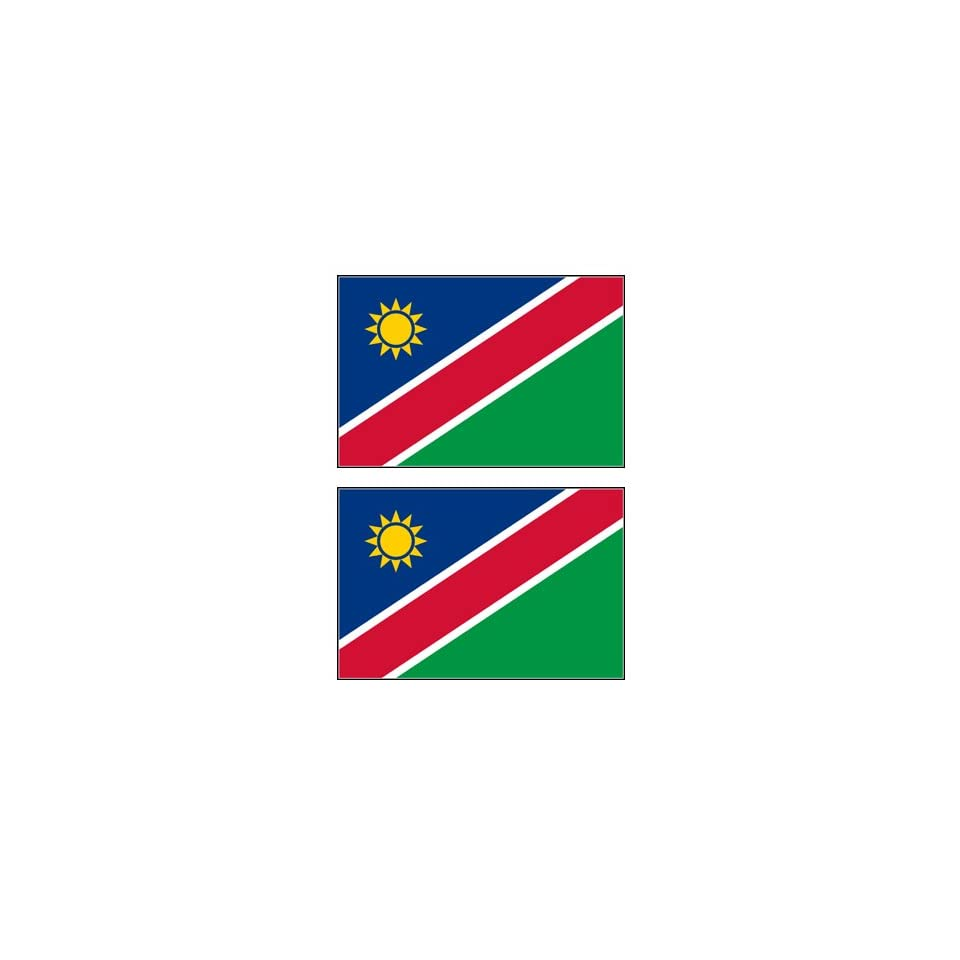 2 Namibia Namibian Flag Stickers Decal Bumper Window Laptop Phone Auto Boat Wall