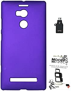 FCS Rubberised Hard Back Case For Gionee Elife E8 With Sim Adaptor And OTG Adaptor