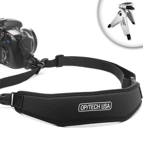 Adjustable Comfort Easy-Glide Camera Strap for Canon EOS 60D / T2i / T1i and More Digital SLR Cameras! ** Includes Mini Tripod