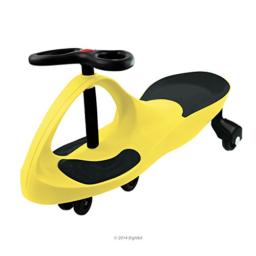 Swivel Car Rolling Ride On Toy - Indoor / Outdoor, YELLOW