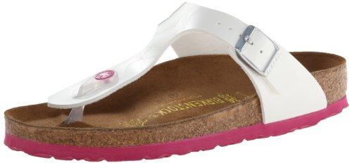 birkenstock gizeh white pink sole