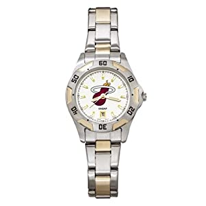 NBA Miami Heat Ladies All-Pro Two-Tone Watch by Logo Art