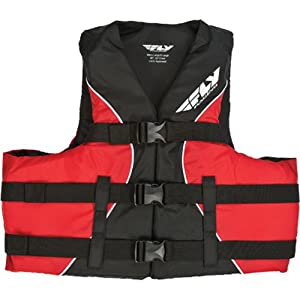 Fly Racing Nylon Adult Water Sports Racing Watercraft Vest - Red/Black / Large/X-Large