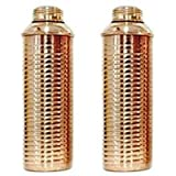100% Pure Copper Bislery Bottle Lining High Quality For Health Benefits, Set Of 2