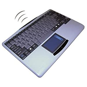 Adesso 2.4 GHz RF Wireless SlimTouch Mini Keyboard with Touchpad (WKB-4000US)