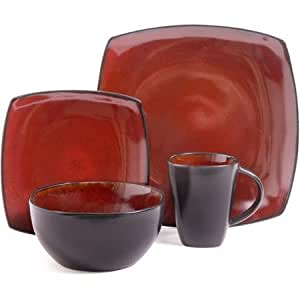 Amazoncom Better Homes and Gardens Tuscan Red 16 Piece