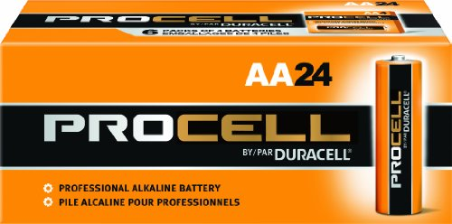 Duracell Pc1500Bkd09 Procell Alkaline-Manganese Dioxide Battery, Aa Size, 1.5V (Pack Of 24)