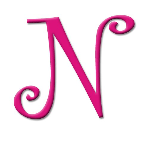 aBaby Curlz Letter, N, Fuchsia