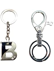 """City Choice Combo Of Alphabet """"B"""" With Unique Design Hook & Locking Keychains"""