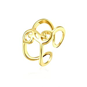 lureme Creative Jewelry Gold Plated with Cubic Zirconia Ring(rg001722)