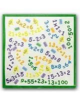 12 Mouchoirs Imprimés avec Nombres pour Enfants 100% coton