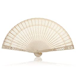 ToJoy Printing Craft Fan, Sandalwood Fan (24pcs)