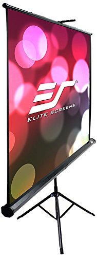 Elite Screens Tripod B Series T85SB  Light-Weight Portable Pull-Up Projection Screen, 85-Inch Diagonal 1:1, Projector Accessory