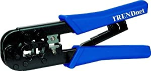 TRENDnet 8P/RJ-45 and 6P/RJ-12, RJ-11 Crimp, Cut, and Strip Tool, TC-CT68