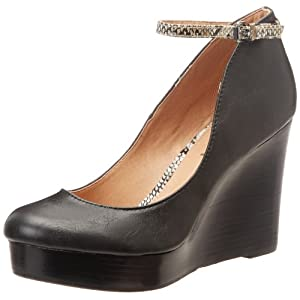 Report Women's Azaria Wedge Pump,Black,7.5 M US