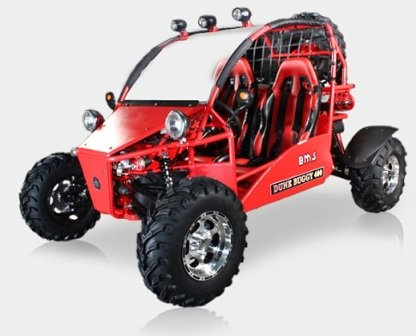 BMS Sand Sniper 400 RED 359cc Gas 5 Speed Semi-Automatic Dune Buggy Go Kart