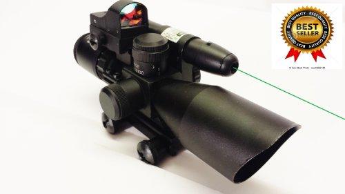 2.5-10X40 Riflescope Green Laser Sight Red Dot Scope