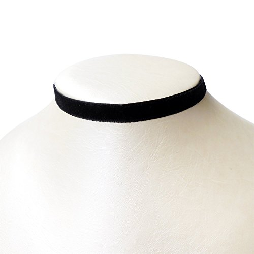 Rarelove Classic Black Velvet 10mm Choker Necklace