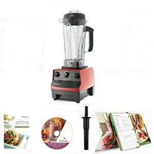 Vitamix 5200 red 7 yr warranty variable for Vitamix 5200 motor specs