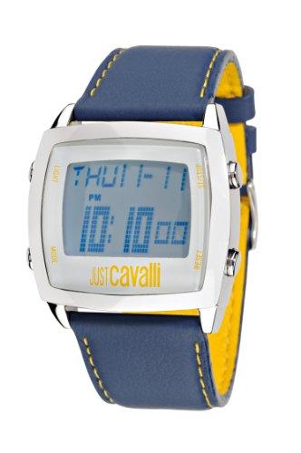 Just-Cavalli-R7251225035-Reloj-de-caballero-de-cuarzo-correa-de-piel-color-azul-claro