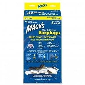 Mack's Pillow Soft Ear Plugs - White - 200-pair Dispenser