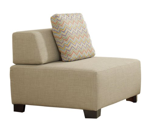 Homelegance 8507Be-1 Upholstered Sofa Chair, Oatmeal Fabric front-961783