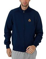 Fahrenheit Men's Fleece Sweat Shirt (8903942217609_Blue_Large)