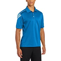 Adidas Golf Mens Climacool 3-Stripe Jersey Polo by adidas