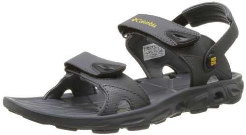 Columbia - Sandali infradito Techsun Vent Interchange, Uomo, Grigio (Gris (030 Charcoal Yellow Curry)), 40
