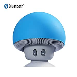 Mini Mushroom Portable Wireless Bluetooth Stereo Speaker Hands Free Speakerphone with Built-in Mic For iPhone/iPad/Laptop/Android (Blue)