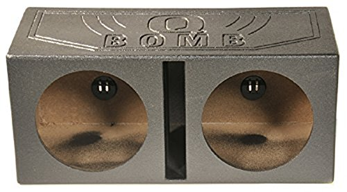 Q Power QBOMB15V Dual 15-Inch Vented Speaker Box from High Grade MDF Wood with Durable Bed Liner Spray (15 Subwoofer Box compare prices)