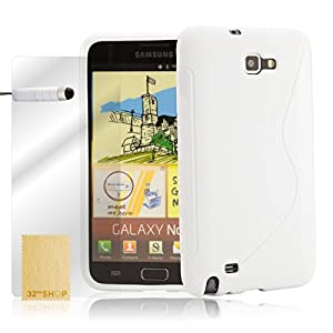 com: 32nd® S-line gel case cover for Samsung Galaxy Note N7000 (i9220