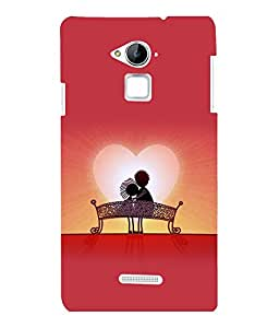 printtech Love Couple Back Case Cover for COOLPAD NOTE 3 / COOLPAD NOTE 3 PLUS