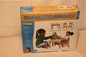 Doll Table & Chair Set Natural by Generic
