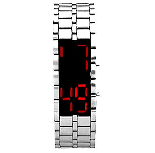 Bracciale OROLOGIO Digitale a Led Uomo Donna Bambino Lava Iron Samurai Watch Display Moderno ed Elegante NEW