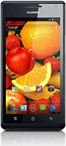 Huawei Ascend P1 Smartphone (10,9 cm (4,3 Zoll) Touchscreen, 8 Megapixel Kamera, 4 GB Interner Speicher, Android 4.0) schwarz