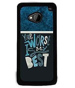 PRINTVISA Your Best Premium Metallic Insert Back Case Cover for HTC One M7 - D5914