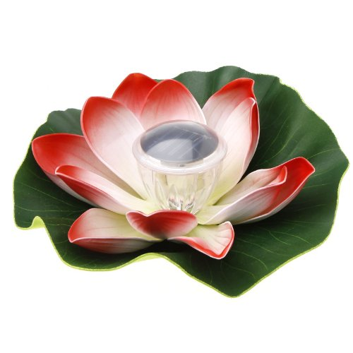 ACOSUN Colorful Solar LED Lotus Flower Lamp Floating Pond Light Garden Pool Nightlight