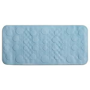 Casa Pura Rubber Bath Mat 35 X 75 Cm Blue Classic Design Long Non Slip Hygienic Amazon