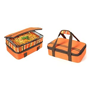 Rachael Ray Expandable Lasagna Lugger, Orange
