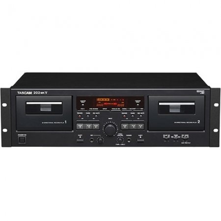 Read About TASCAM 202mkV Professional Dual Well Cassette Deck
