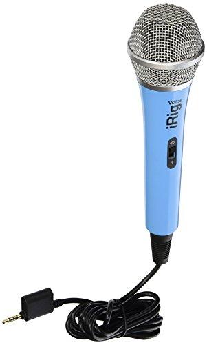 IK Multimedia iRig Voice Microfono Voce Dinamico per iPhone, iPod touch, iPad iOS/Android, Azzurro