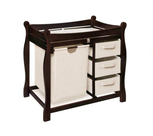 Imagen de Badger Basket Sleigh Cambiar el estilo de la tabla con Hamper / Tres Cestos, Espresso