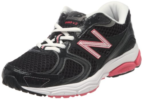 New Balance Women's W580 Running Shoe,Black/Pink,8.5 B US (Custom New Balance Shoes compare prices)