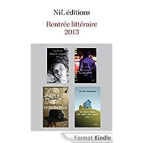 Rentr�e litt�raire 2013 - NiL �ditions - Extraits gratuits