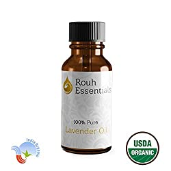 Rouh Essentials 15ml Pure Organic Lavender Oil for Aromatherapy